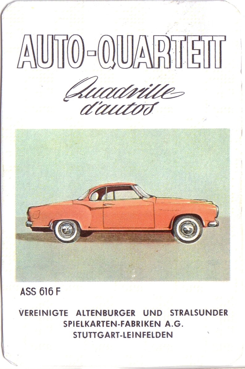 ASS Auto-Quartett, Quadrille d'autos 1959
