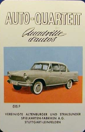 ASS Auto-Quartett, Quadrille d'autos 1960