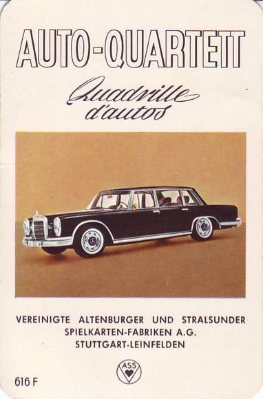 ASS Auto-Quartett, Quadrille d'autos 1964