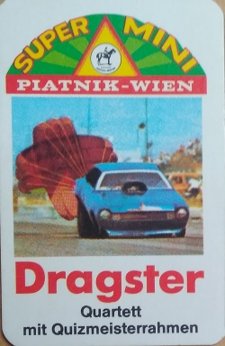 Super Mini Quartett Piatnik Dragster