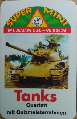 Super Mini Quartett Piatnik Tanks