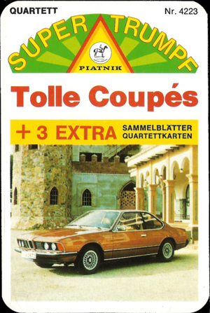 Piatnik Super Trumpf 4223 1977, Tolle Coupes